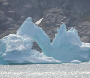 Large Natural Ice Sculpture - Prins Christian Sund - Greenland,