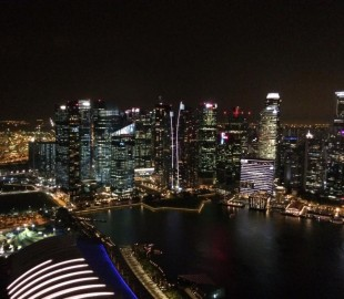Singapore taken from top of Marina Bay Sands Hotel