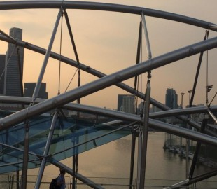 Singapore from open top bus