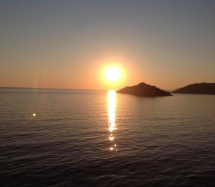 The setting sun sailing from beautiful Montenegro on fabulous Celebrity Equinox...July 2013
