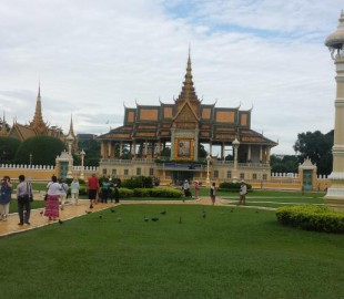 This was our first view of the Golden Palace - Pnom Penh
