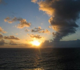 Sunset somewhere in the South Pacific