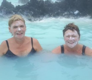Blue lagoon taking 20 years of our ages!