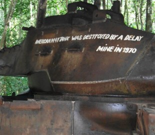 This is an abandoned tank from the US Army