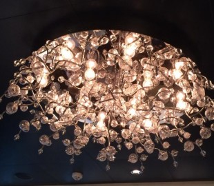 Light fitting in Savor restaurant