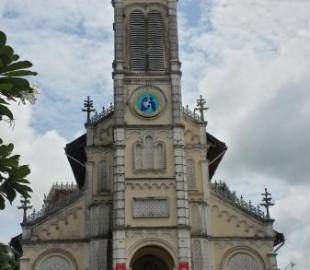 The church in Cai Be - Christianity isn't huge in Vietnaqm but does have a small following