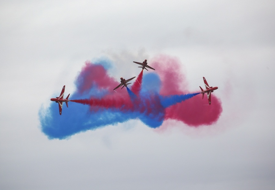 Don't Miss Red Arrows Fly By!