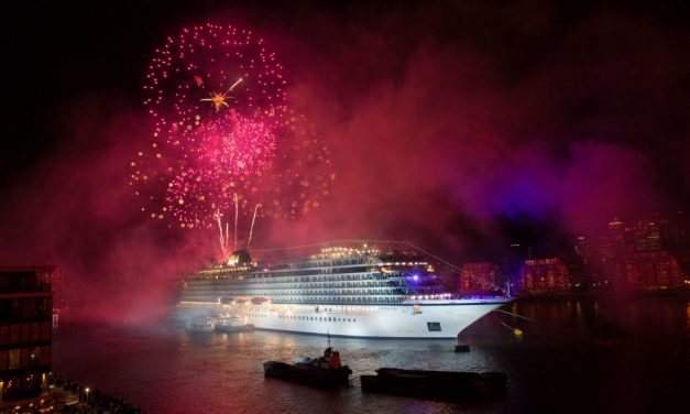 Brand New 47 Thousand Ton Ship Christened On The River Thames