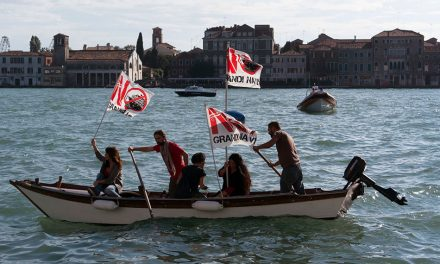 Angry Venetians Protest Against Cruise Ships With Flares