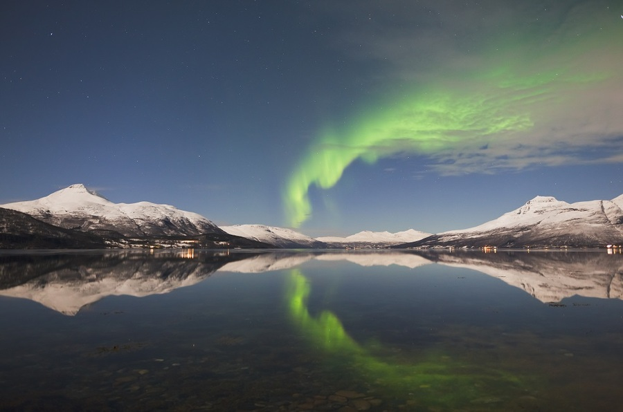 Northern Lights in the Norwegian Fjords