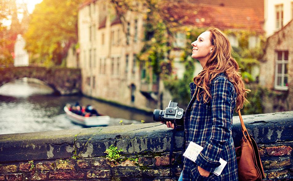Tourist in Bruges