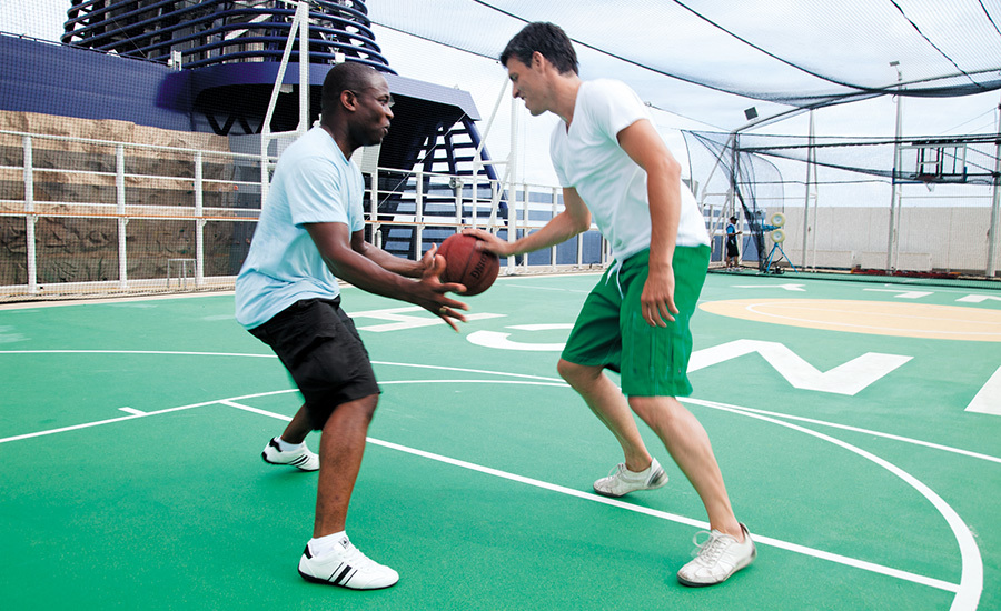 Cruise ship sports court
