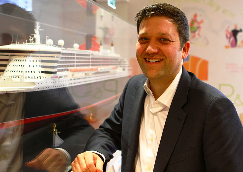 Cunard's marketing director Angus Struthers