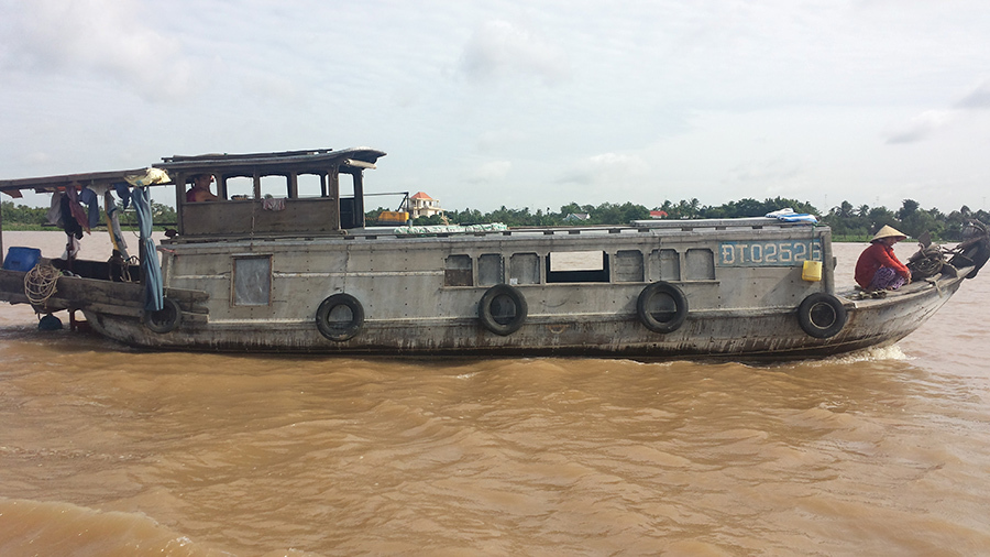 Typical Mekong river boat