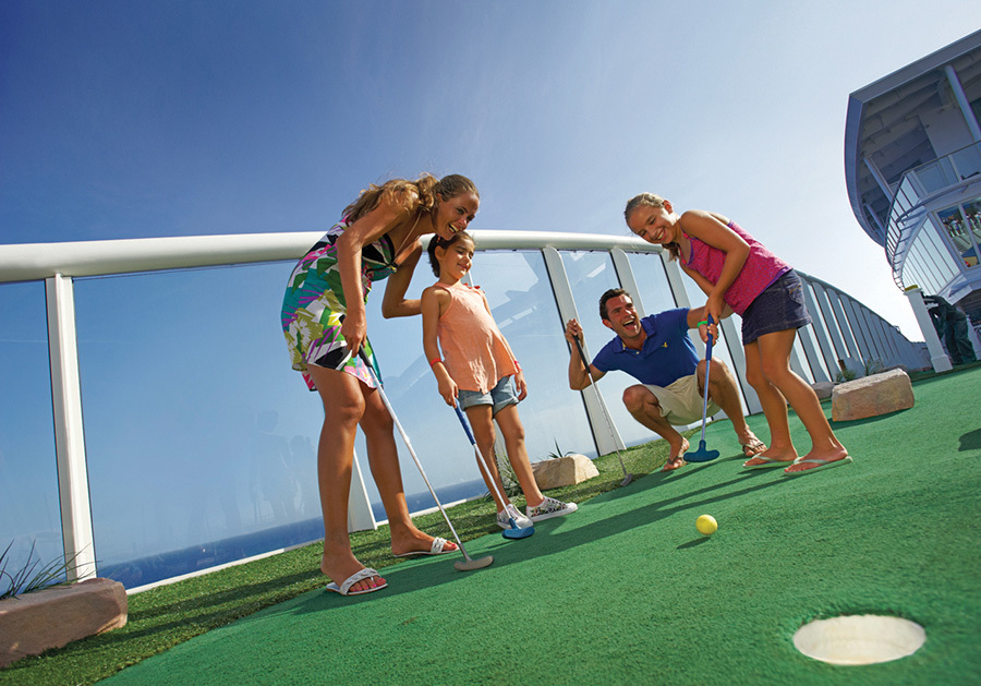 Mini golf on a cruise ship