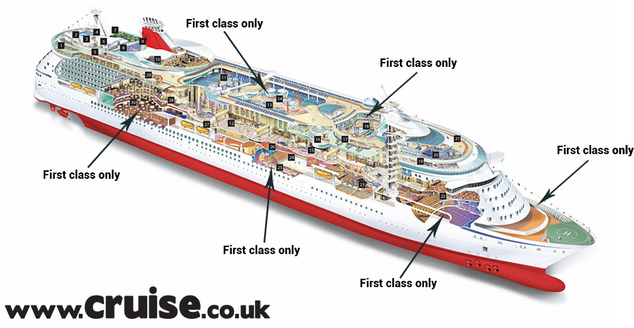 Virgin Cruises ship cut out