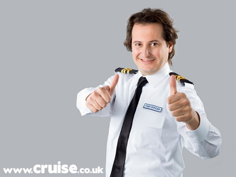 Hunky crew officer