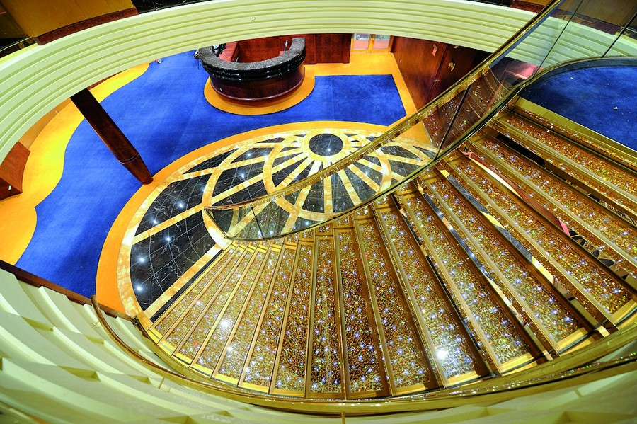 MSC Yacht Club crystal staircase
