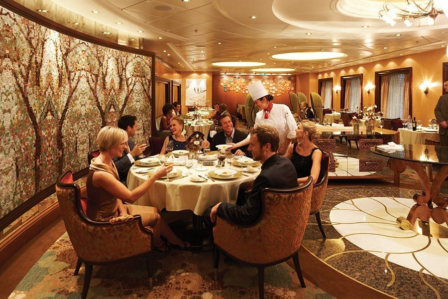 Dining on-board Royal Caribbean