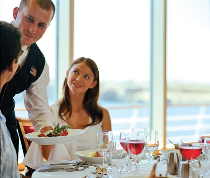 Waiter service on Royal Caribbean