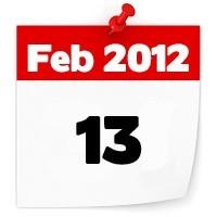 13th Feb 2012