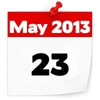 23rd May 2013