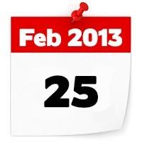 25th Feb 2013
