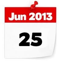 25th June 2013