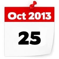 25th Oct 2013