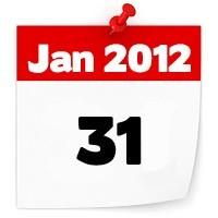 31st Jan 2012