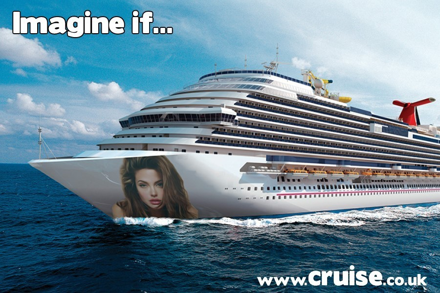 Ig Angelina Jolie was a cruise ship godmother