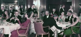 Cunard formal dinner