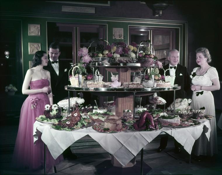 Cunard buffet