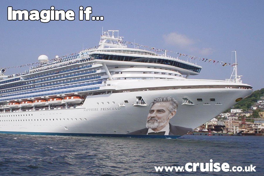 George Clooney as godfather to a cruise ship