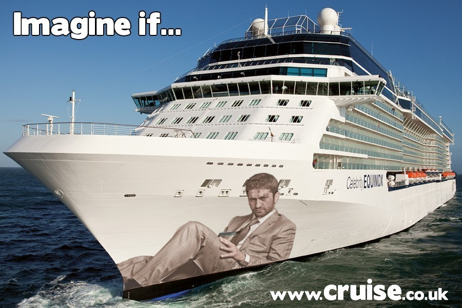 Gerard Butler Godfather on a cruise ship