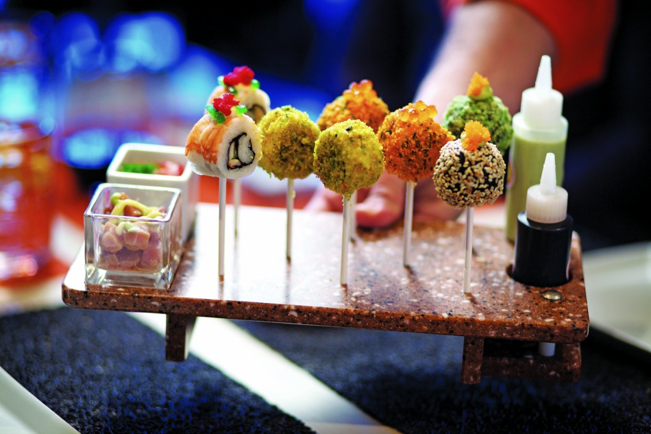 sushi lollipops on celebrity