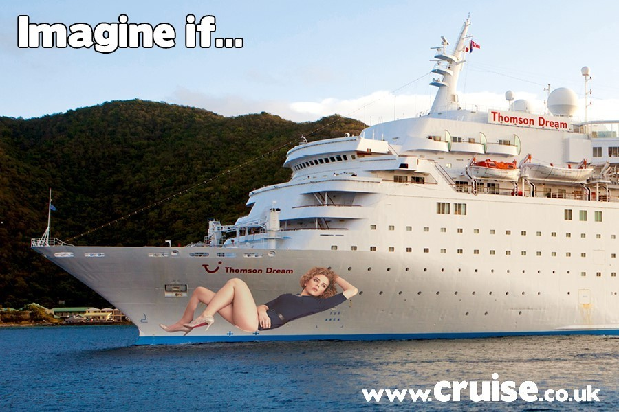 What if Scarlett Johansen was a cruise ship godmother