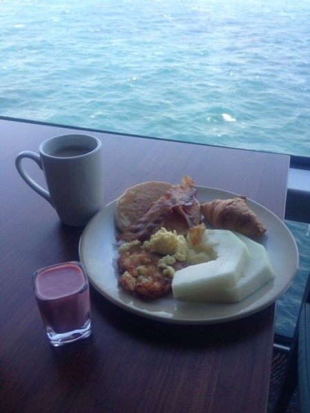 Breakfast on anthem balcony