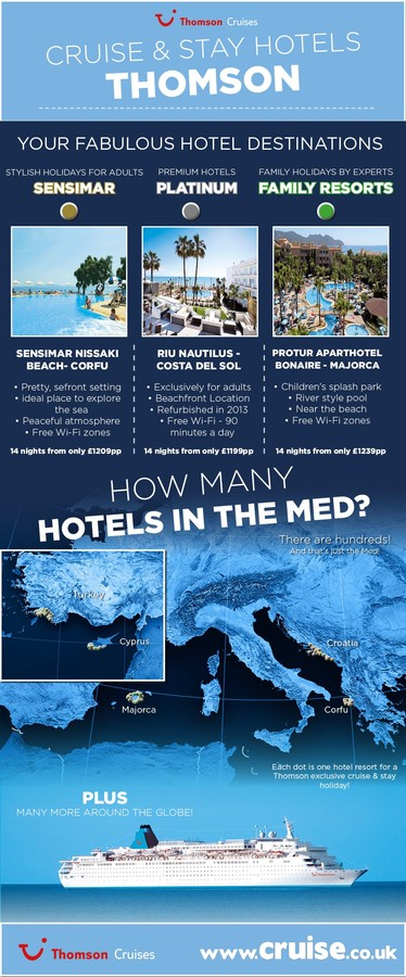 thomson cruise and stay infographic