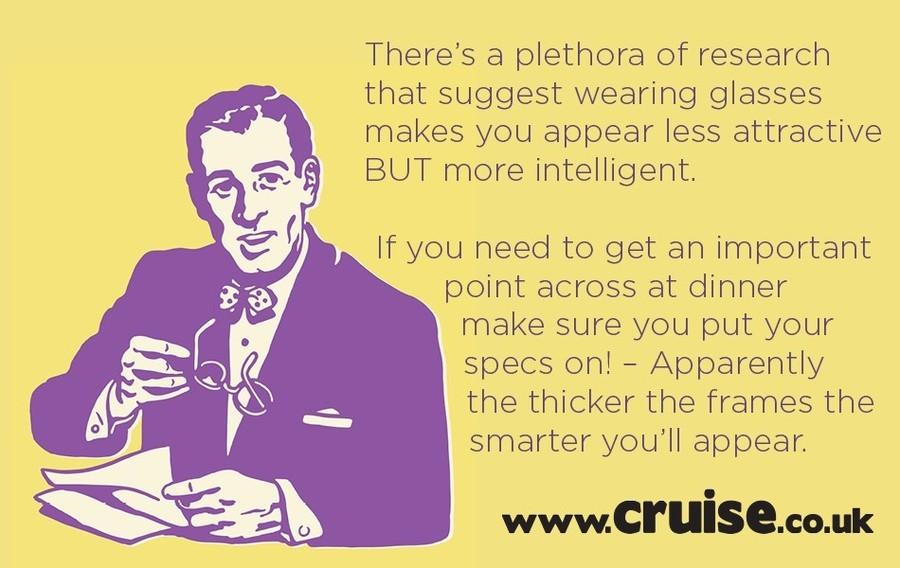 Apparently Glasses Make You Smarter - dinner table debates