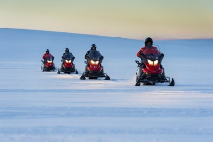 snowmobile on hurtigruten