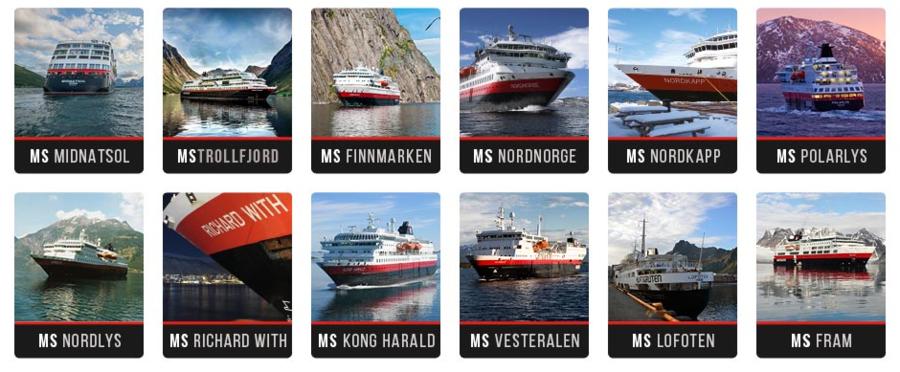 Hurtigruten Ships