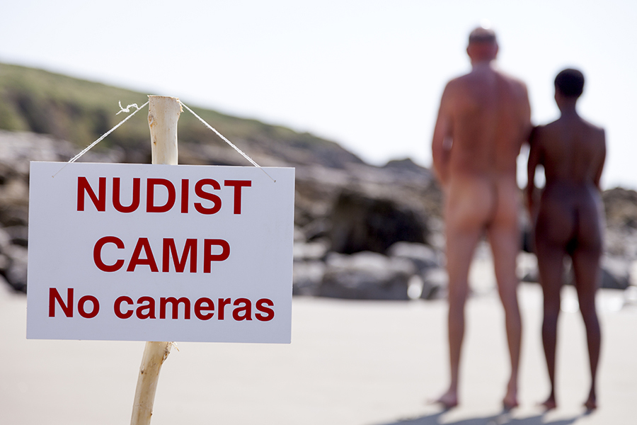 Couple At A Nudist Camp