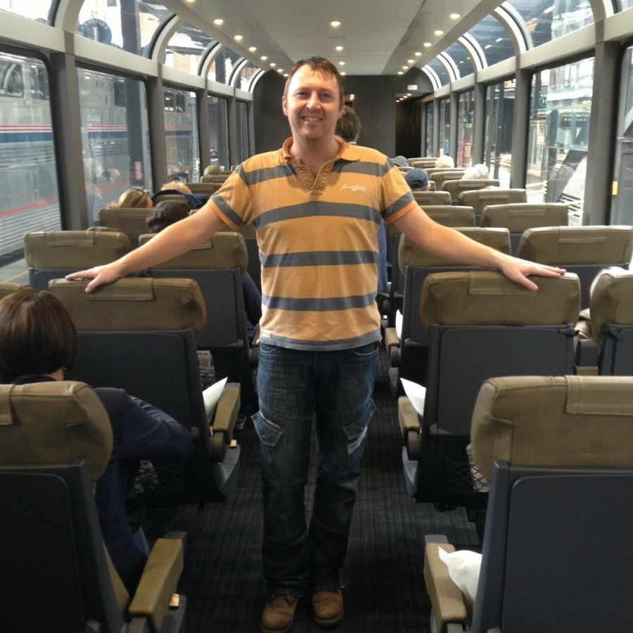 Liam on Rocky mountaineer