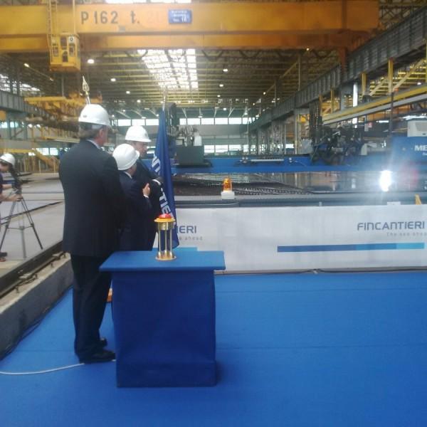 MSC Seaside steel-cutting, Monfalcone