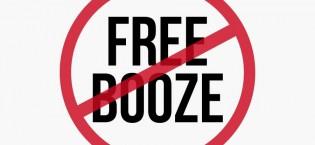 free booze banned
