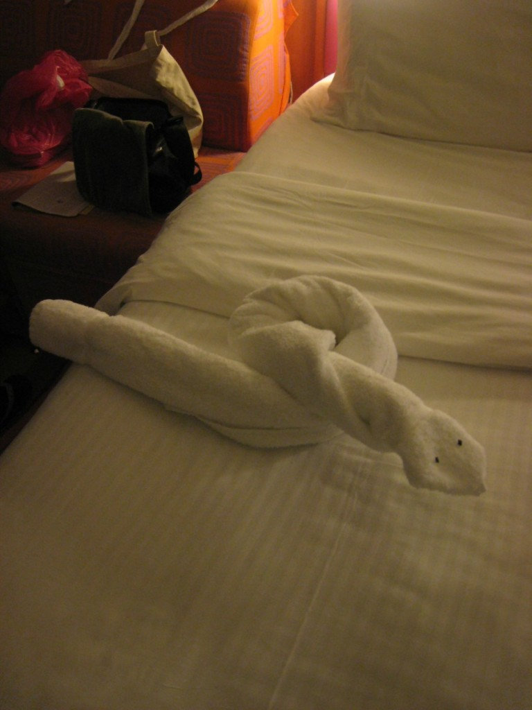 towel animal snake art