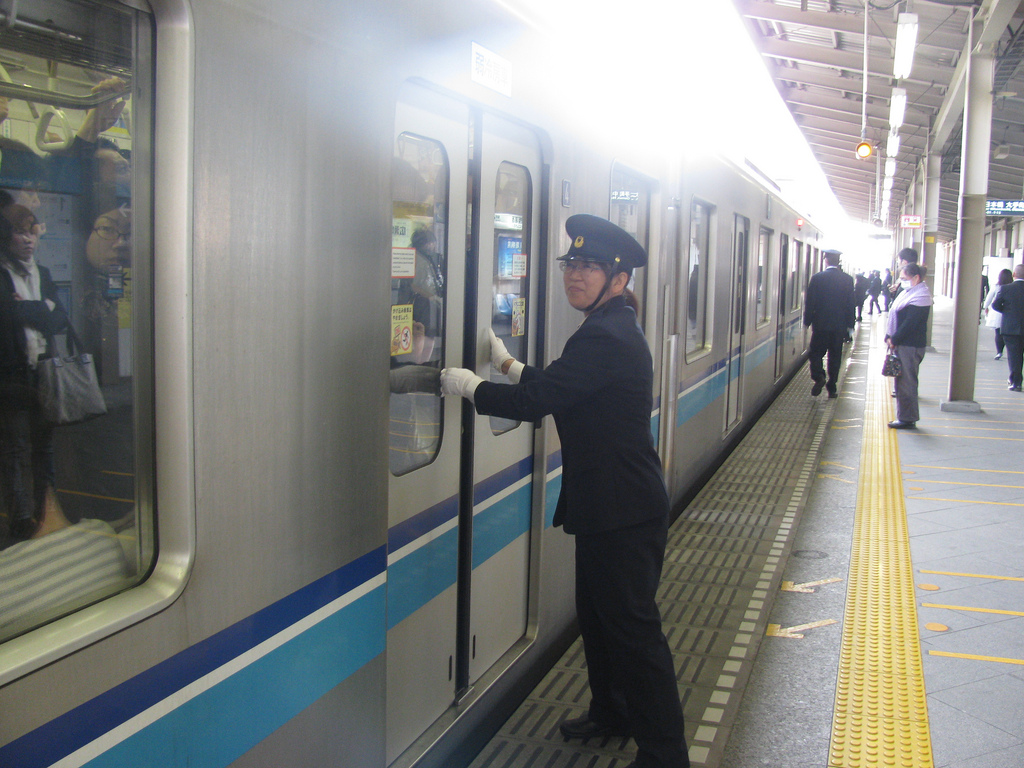 busy train japan