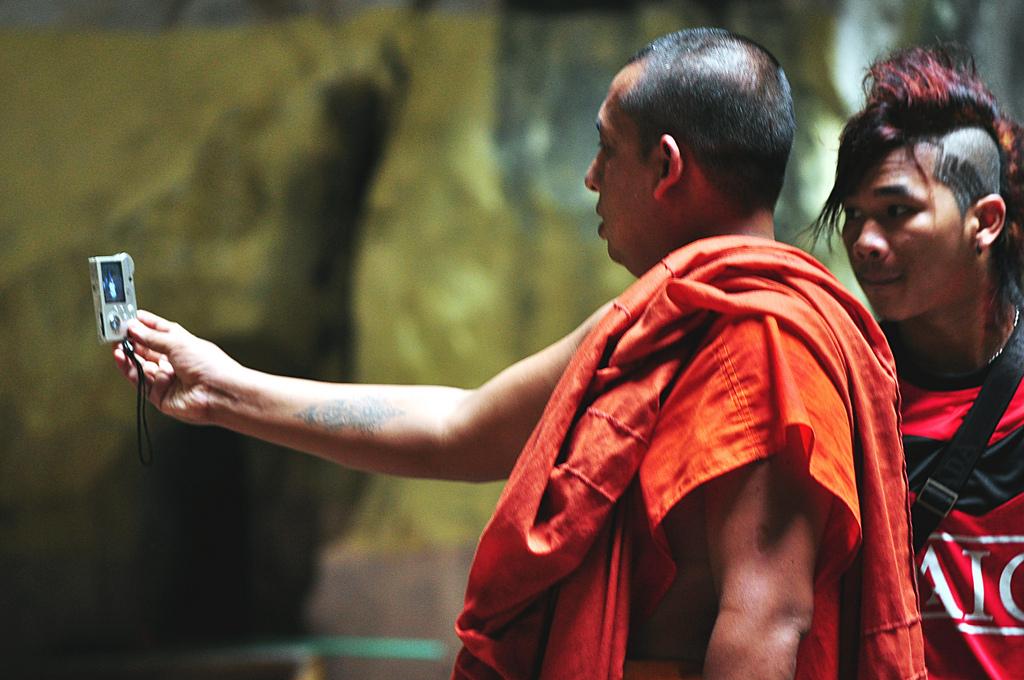 Monk selfie