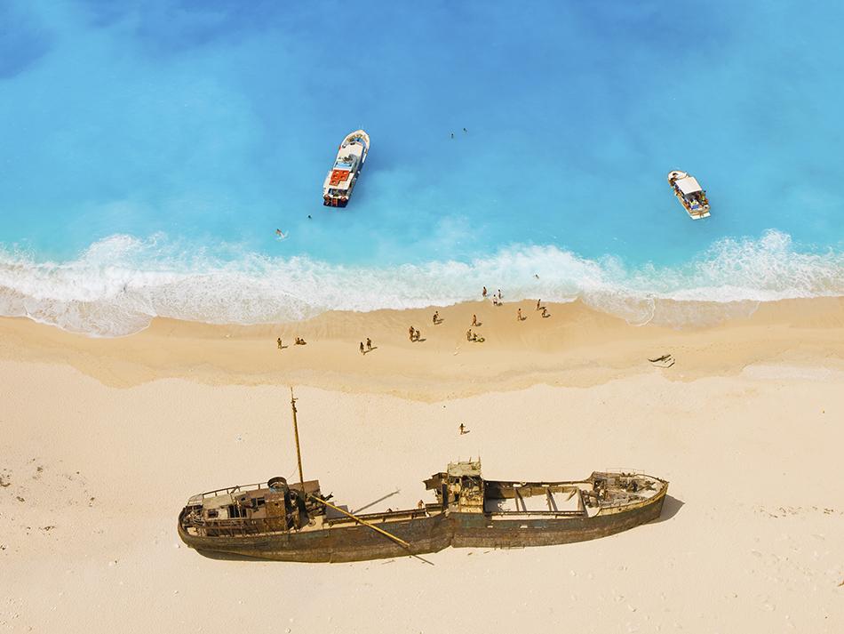 Beautiful shipwreck beach